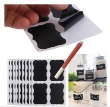80 pz/lotto Lavagna Sticker con 1 Marcatore Gesso Liquido Dispensa Mestiere Vasi Organizer Etichette 50mm x 35mm Lavagna adesivi