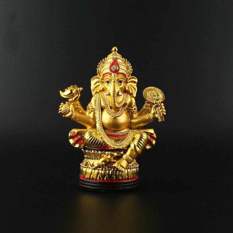 Geneisha, figura de Buda, estatuas tántricas, estatua de dios elefante india, estatuilla de Ganesh de resina