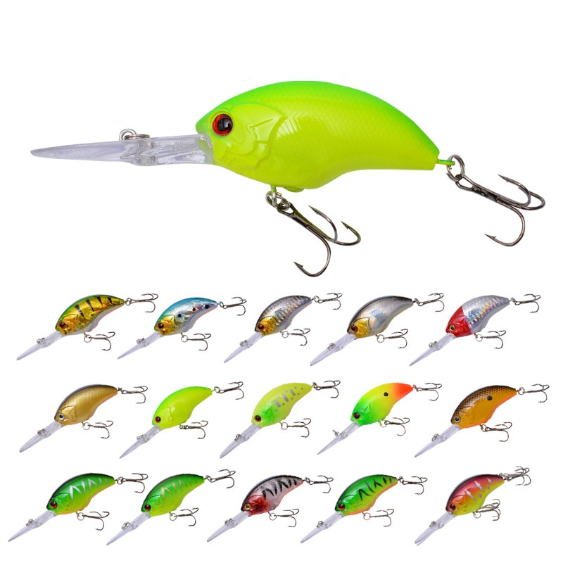 1pcs Floating Long Tongue crankbait Fishing Lures wobbler 9cm/12.5g Jerkbait trolling Bass Pike Artificial Bait carp Fishing