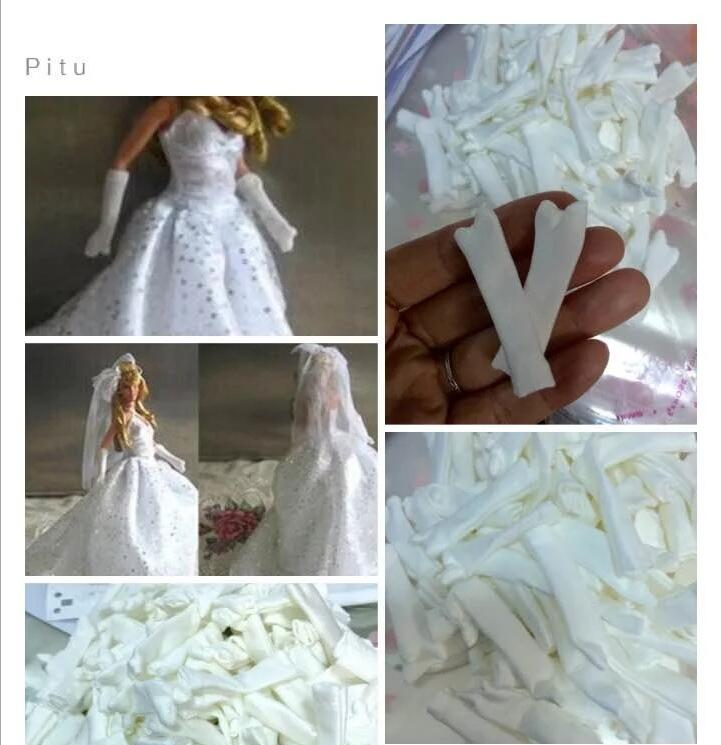 Vestido de muñeca a la moda hecho a mano, guantes de baile para fiesta de novia, ropa para Barbie, accesorios para muñeca, juguete para niños