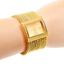Classic Luxury Quartz Watch Women's Gold Diamond Case Alloy Band Bracelet Watch  Design 5DC9 6YLN 93UJ