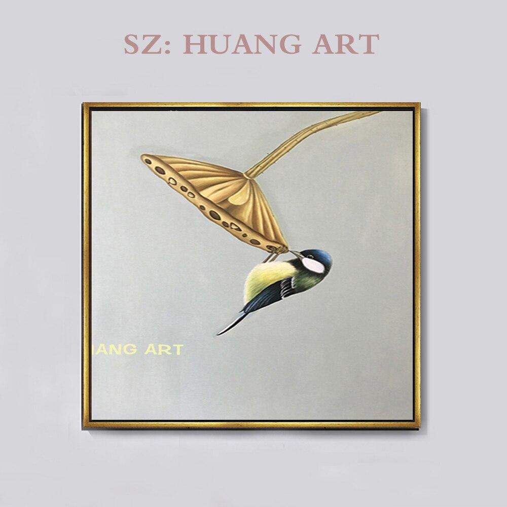 Pintura al óleo sobre lienzo pintado a mano, de alta calidad, moderno, realista, de pájaro mágico, pintura al óleo sobre lienzo moderno, pintura al óleo de ave mágica para