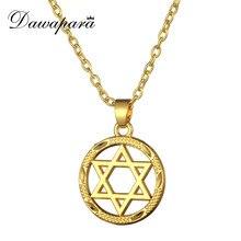 Dawapara or-couleur hommes étoile de David collier Magen David pendentif Judaica bijoux juifs