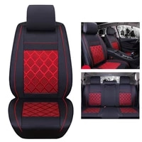 universal car seat covers cushion pad fit waterproof pu leather front rear cushion mess fabric seat cover 5 seats