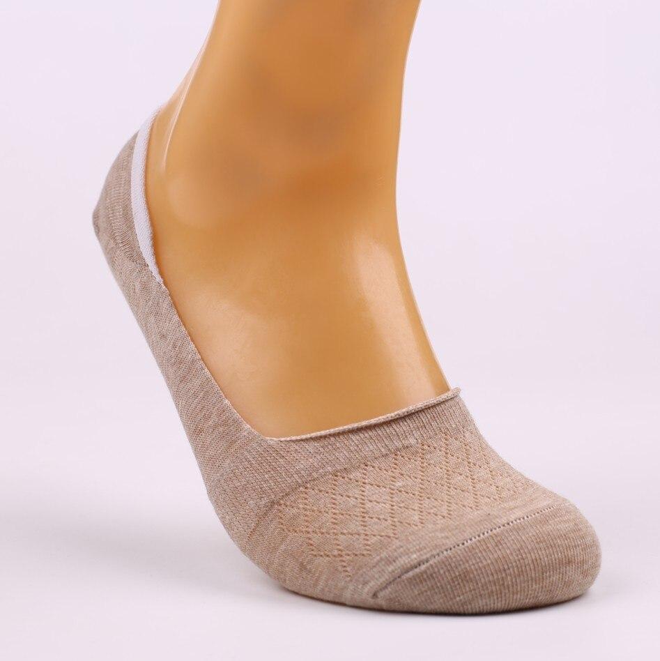 10 unidades = 5 par/lote de nuevos calcetines invisibles antideslizantes de silicona para mujer, calcetines de verano para mujer, calcetines, bonitas zapatillas