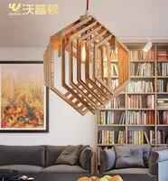 living room wood pendant light