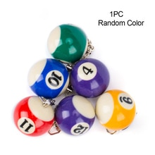Mini Billiards Shaped Keyring Assorted Colorful Billiards Pool Small Ball Keychain Hanging Decorations Key Chain