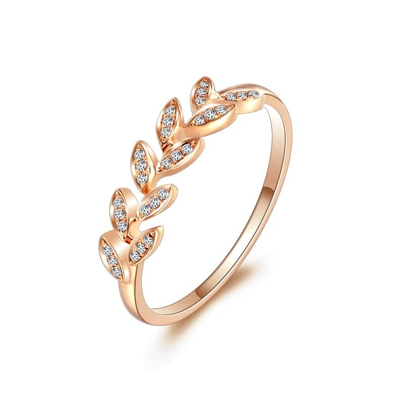 ZHJIASHUN-خاتم على شكل ورقة هالو للنساء ، ألماس مويسانيتي عيار 14 قيراط 585 ، ذهب وردي ، خواتم خطوبة ، عصابات زفاف ، مجوهرات راقية