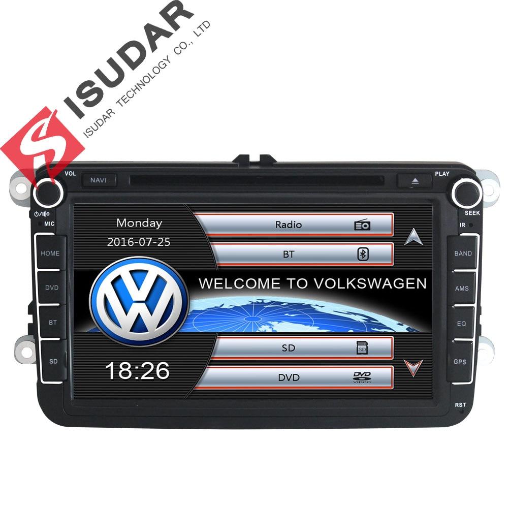 Isudar-مشغل وسائط متعددة GPS للسيارة ، راديو السيارة 2 Din لـ VW/POLO/PASSAT b6/golf 5/Skoda/Octavia/SEAT/LEON ، راديو dvd ، DAB