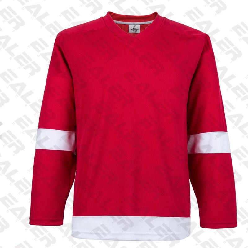 EALER, Envío Gratis, barato, transpirable, en blanco, traje de entrenamiento, camisetas de hockey sobre hielo, en stock, personalizado, E007