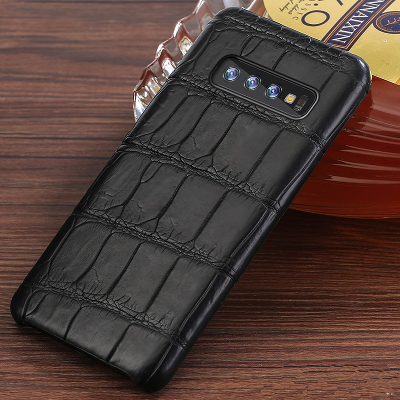 Luxury oraginal Crocodile Leather case For Samsung Galaxy s10 SE S9 S8 S7Edge cover For Note 20 8 9 a50 a70  A30 a7 2018