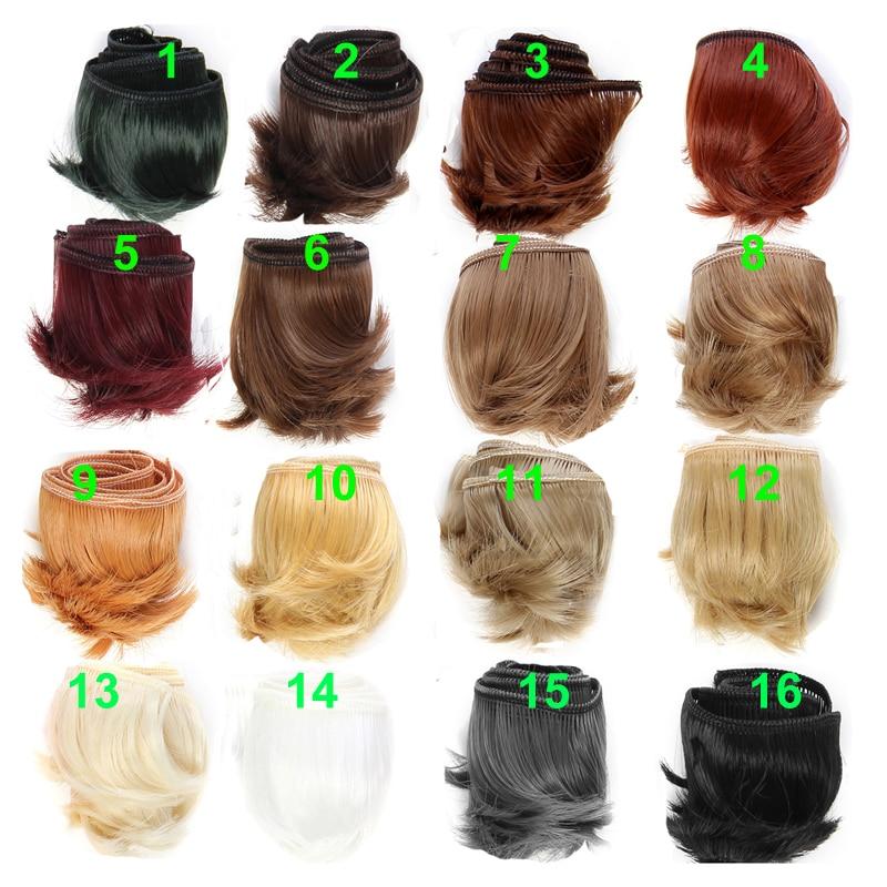 1piece 5cm black white brown  color straight doll hair for 1/3 1/4 BJD diy