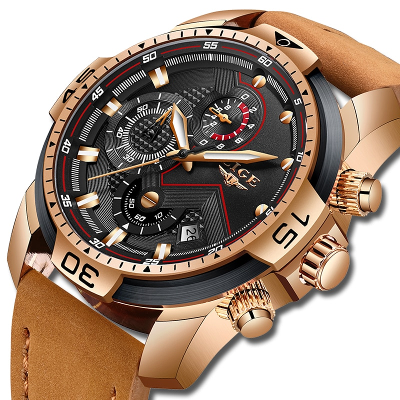 2019 LIGE Top Luxury Brand Men Analog Leather Sports Watches Men's Army Military Watch Male Date Quartz Clock Relogio Masculino lige new luxury brand men analog leather sports watches men s army military waterproof watch male date quartz clock reloj hombre