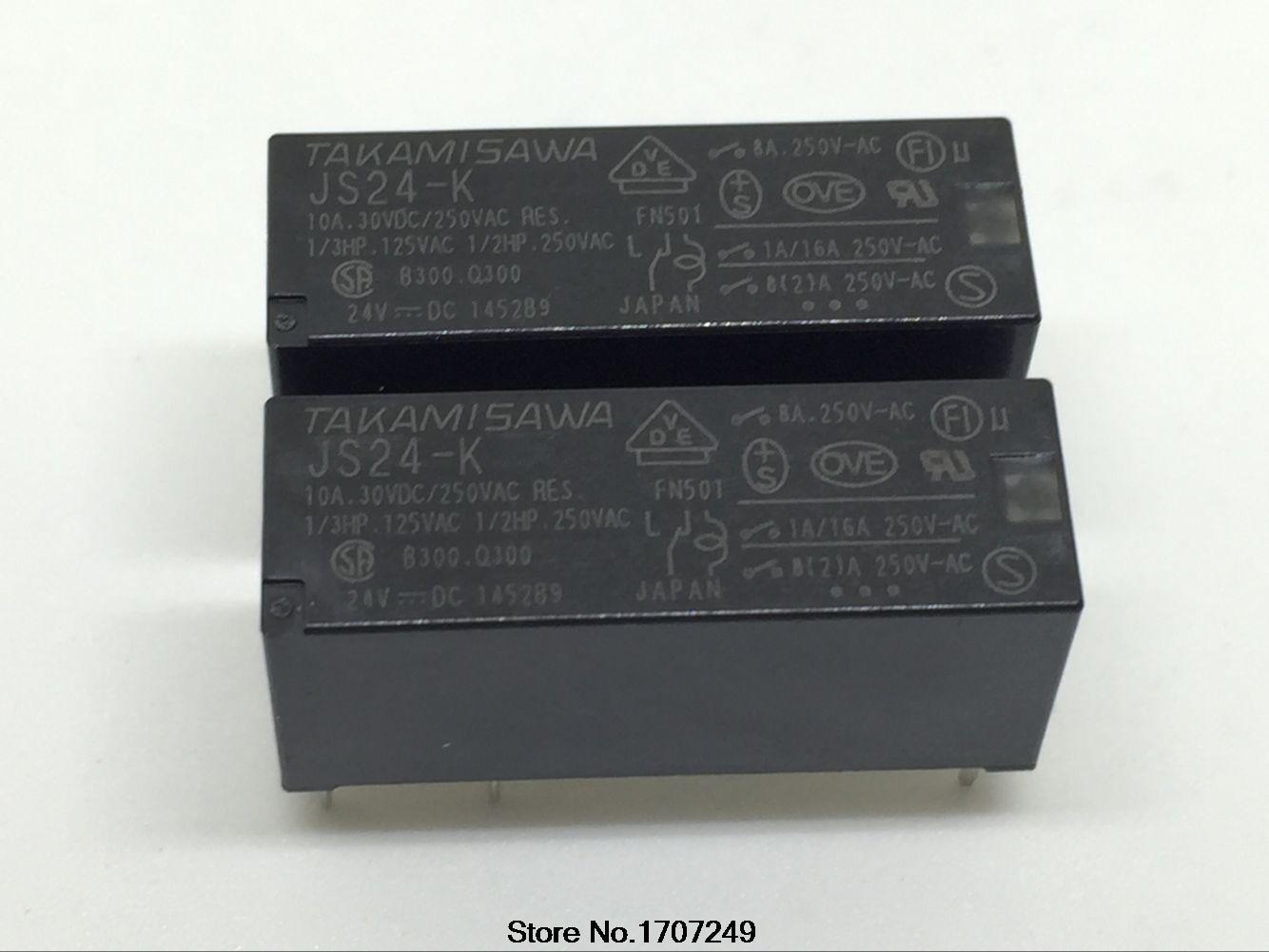 شحن مجاني 10 قطعة 100% جديد الأصلي تتابع JS24-K 5PIN 8A 24V