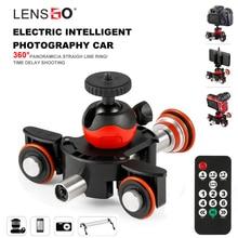 LENSGO caméra vidéo piste dolly motorisé électrique curseur moteur Dolly camion voiture pour Nikon Canon Sony DSLR Camera 3 roues dolly