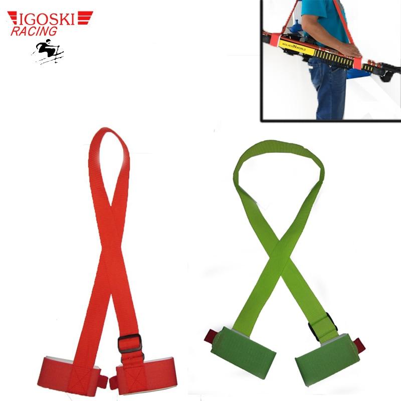 Igoski Ski snowboard facile sac à main Ski de fond pôle porte-épaule sac à bandoulière vert et rouge