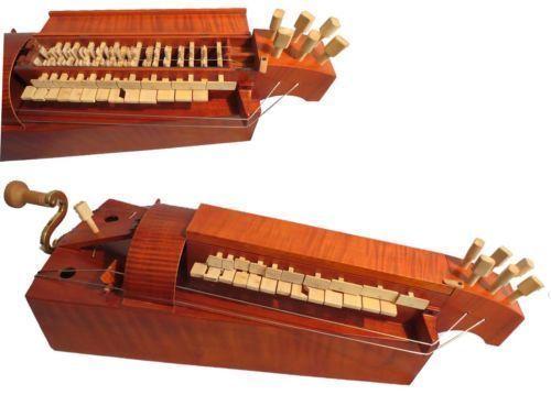 Madera maciza hecha a mano, 6 cuerdas, 24 llaves, sin colofonia, Hurdy...