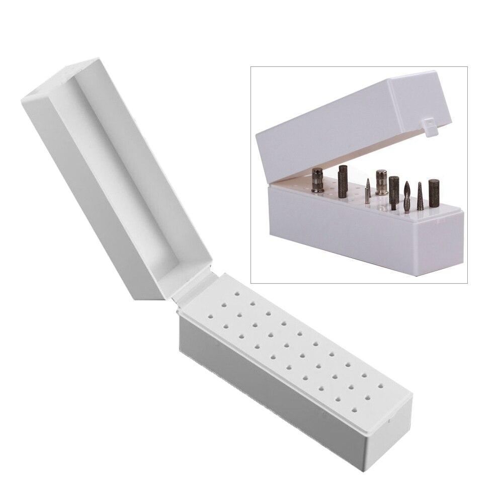 30 agujeros taladro de uñas broca de pulido caja de soporte de almacenamiento de exhibición contenedor de soporte de arte de manicura uñas estante de exhibición de la Herramienta #262497