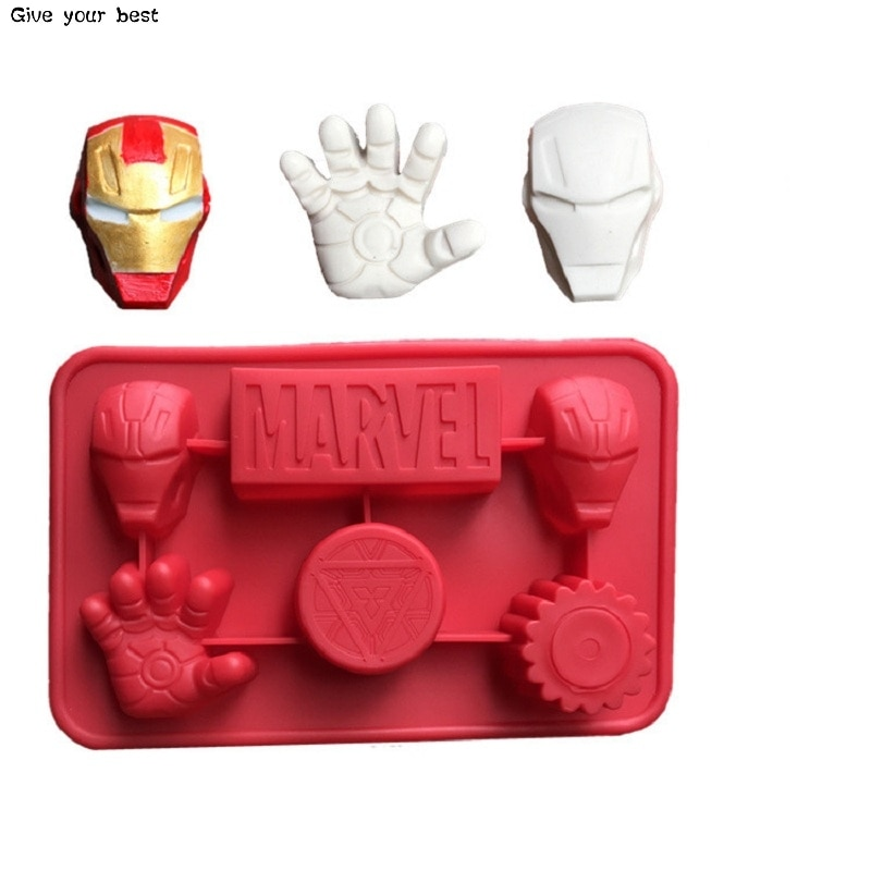 Инструменты для украшения торта Железный человек, силиконовые формы для торта, антипригарный пирог с супергероями, силиконовые формы для шоколада