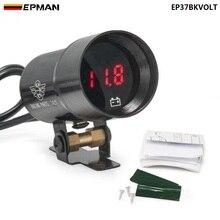 37mm-Compact Micro Digital Smoked Lens Volt Battery Gauge Black,Purple For BMW 5 Series E39 525i 28i 530i M EP37BKVOLT