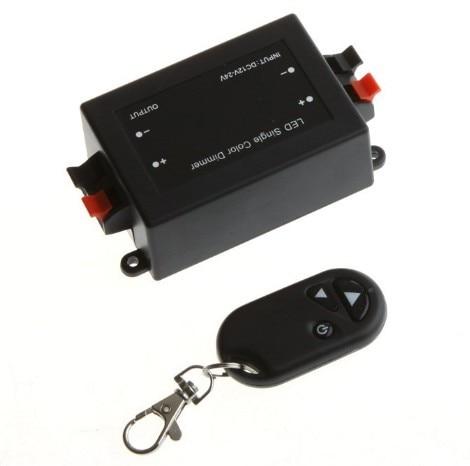 100sets/lot  DC 12V-24V Wireless Remote Light  LED light Dimmer Brightness Controller Free DHL/FEDEX Fast shipping