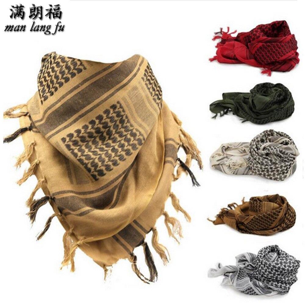 100% хлопок, мусульманский хиджаб, арабские шарфы, толстый шемаг, тактический шарф для пустыни, мужская и женская шаль, ветреный Военный ветрозащитный шарф