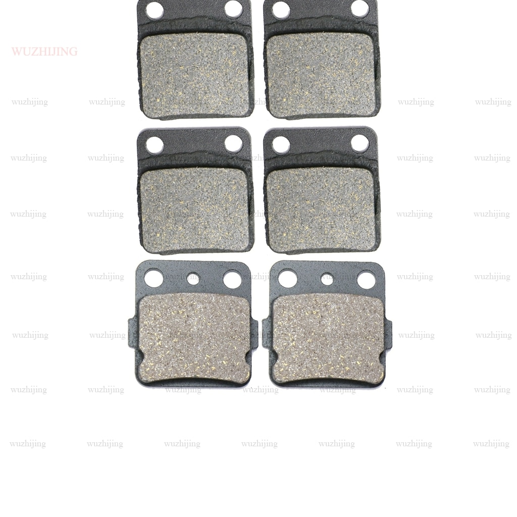 Jogo de pastilhas de freio para yamaha yfm 350 wolverine 4x4 (95-04) yfm350 guerreiro (89-04) yfs 200 blaster (03-06) yfz 350 banshee (90-09)