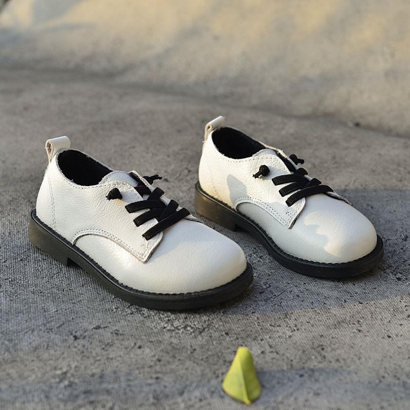 Genuine Leather Boys Leather Shoes Oxford Shoes Fashion Children's school Shoes Children Sneaker Size 26-36