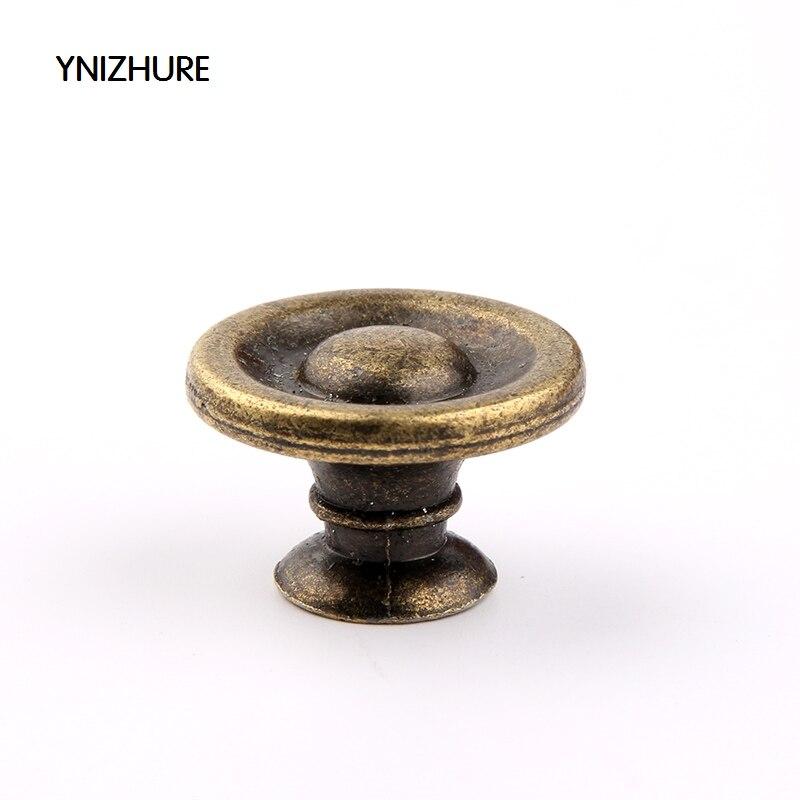 YNIZHURE10pcs Antigo Alça 27*17mm Alta Qualidade Mini Buraco Pequena Gaveta Puxador Knob Tiradores Muebles