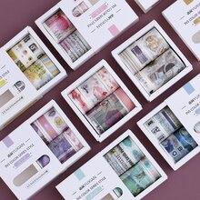 5 unids/caja INS serie simple diario decorativo Washi Tape Scrapbooking DIY Sticker tape Tape Oficina papelería
