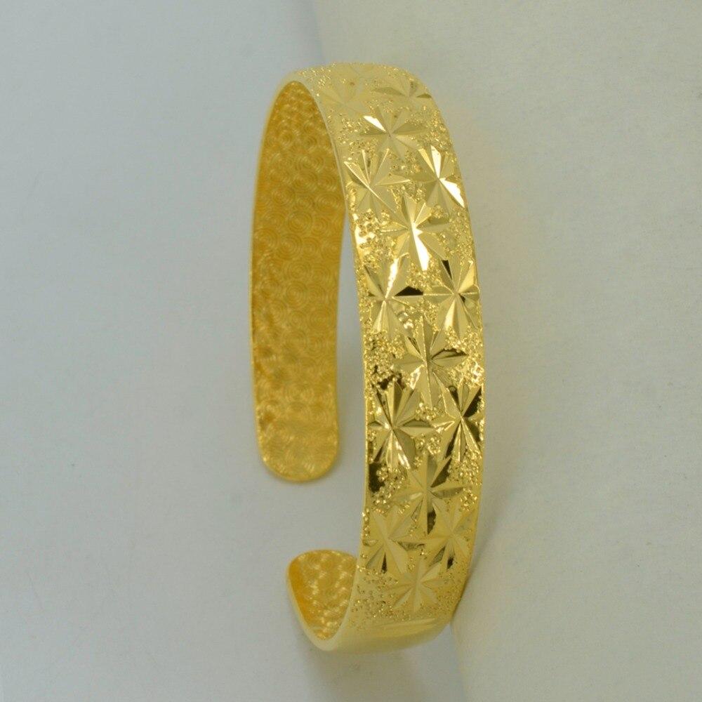 Anniyo Bracelet pour femmes/fille couleur or Dubai Bracelet à la mode éthiopien mariage Bracelet afrique arabe bijoux #003607