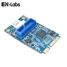 En-Labs Motherboard Mini PCI Express to Dual USB 3.0 20-pin Add On Card Adapter,Mini PCIe PCI-e to 2 ports USB w/ Molex Power