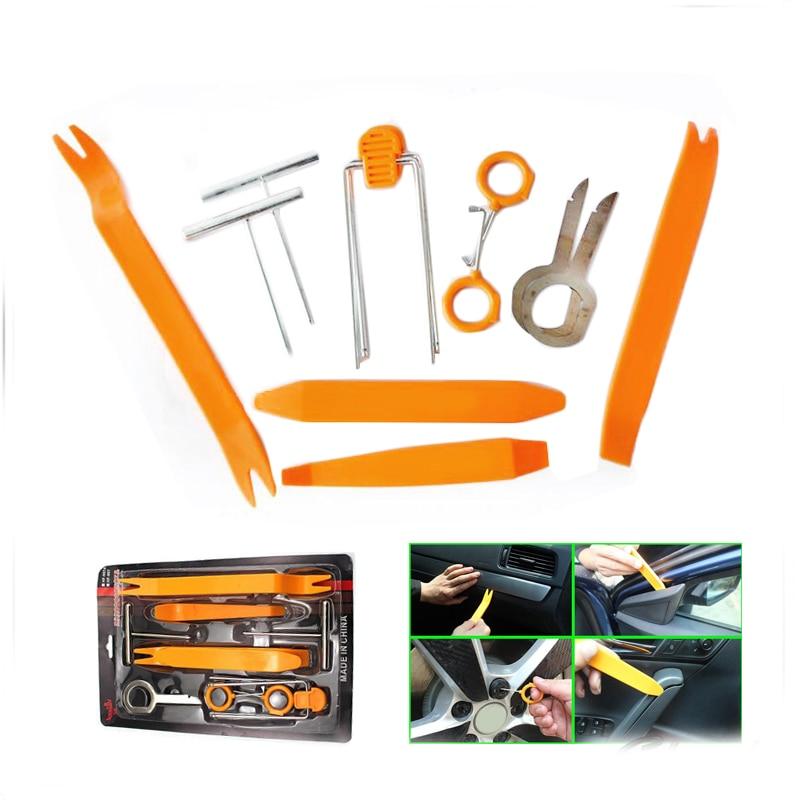 12pcs/set Professional Vehicle Car Door Panel Remove Install Pry Kit Refit Set Repairing Tools