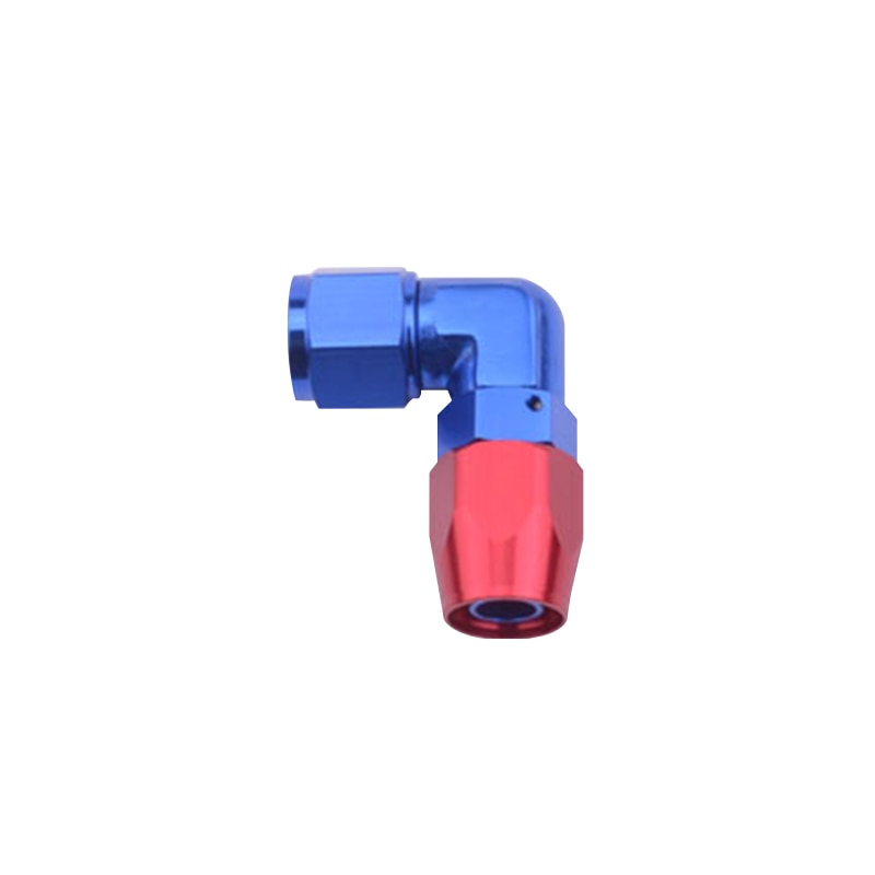 1 Uds 10 un-10 de aluminio de 90 grados forzadas de racor adaptador de extremo de manguera