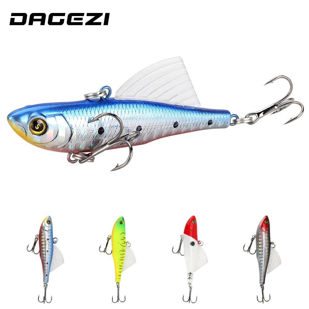 DAGEZI VIB señuelo de pesca 4 colores cebo Artificial 6,8 cm/13g cebo de pesca duro cebo de calamar con aletas aparejos de Pesca Crankbait