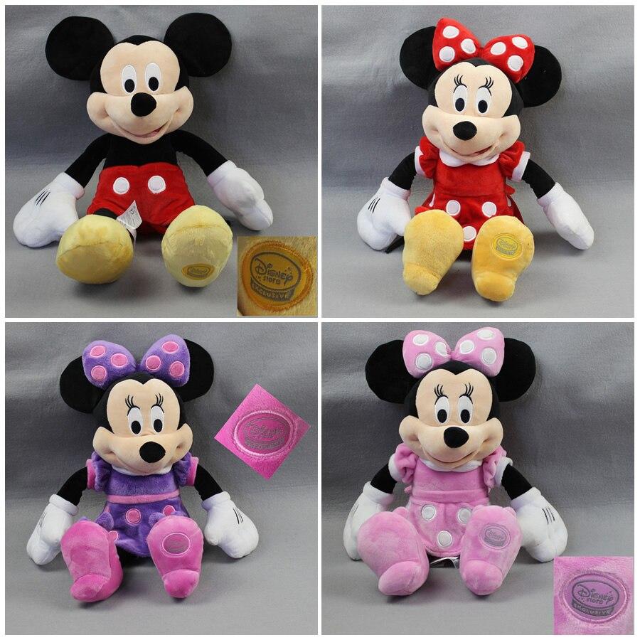 Frete grátis 1 pçs mickey mouse clubhouse pelúcia brinquedos mickey & 3 cores minnie brinquedos para crianças presentes de aniversário