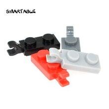 Placa smartable especial 1x2 com clipe blocos de construção horizontal moc peças brinquedos para crianças compatíveis 63868 80 pçs/lote