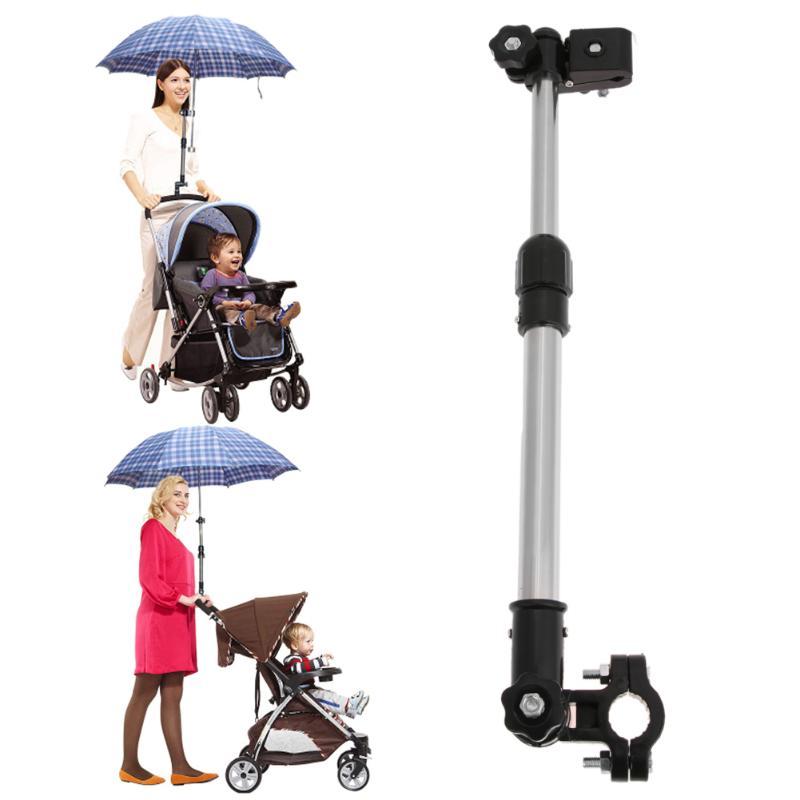 Cochecito de bebé sombrilla para carrito de bebé soporte elástico soporte ajustable carrito Parasol estante bicicleta paraguas portaombrelli soporte