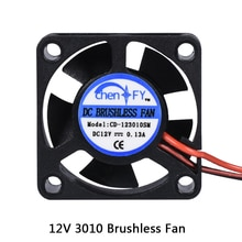 3D Pinter pièces 3010 ventilateur 30MM 30x30x10MM 12V 5V 24V 2Pin DC refroidisseur petit ventilateur de refroidissement bricolage Reprap pour j-head hotend