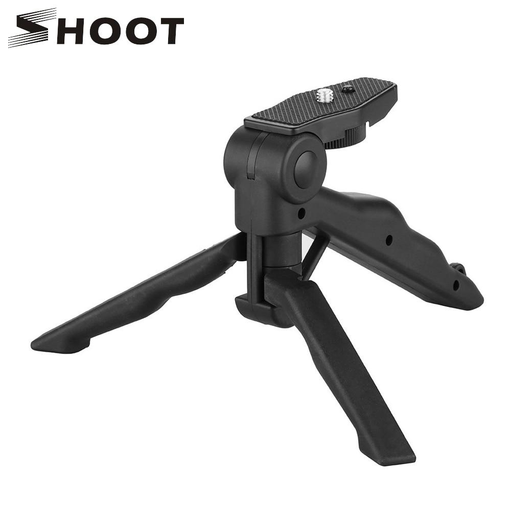 A Mini portátil trípode para GoPro héroe 8 7 6 5 4 sesiones Xiaomi Yi 4K Sjcam Eken Canon Nikon Sony DSLR accesorio