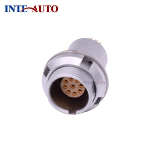 Supply 2019 new metal 1B series 8 pins M12 female connector,Fixed receptacle, EZEG 1B 308