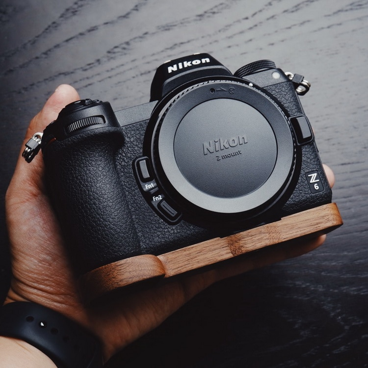 Wooden Quick Release L Plate / L Bracket Hand Grip Holder Customized Perfect fit for Nikon Z7 Z6 enlarge