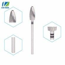 Forets en carbure de tungstène outils à ongles forme de flamme pour manucure électrique perceuses pédicure polissage ongles peu 21