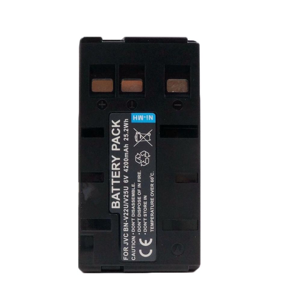 Аккумулятор для камеры WHCYonline 4200 мАч, для JVC BN-V11U, BN-V12, BN-V12U, BN-V14U, BN-V15, BN-V18U, BN-V20, BN-V20U, BN-V20US, BN-V22, BN-V22U