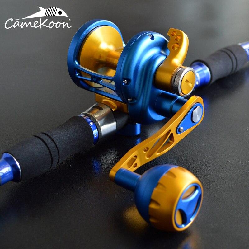 CAMEKOON Conventional Saltwater Lever Drag Reel Full Metal 35KG Max Drag Powerful Trolling Fishing Reel Deep Sea Boat Fishing enlarge