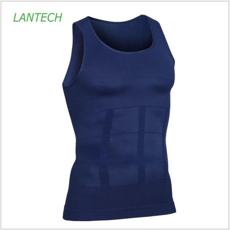LANTECH мужской компрессионный жилет для бодибилдинга, облегающий жилет для бега, фитнеса, тренажерного зала, рубашки без рукавов