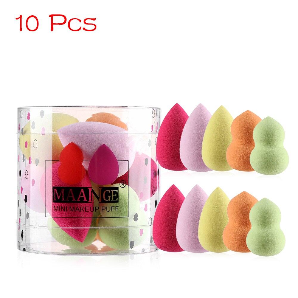 1/4/10 Uds Mini esponja de maquillaje Set gotas de agua forma de calabaza cosmética Puff crece más grande en agua suave base Puff polvo