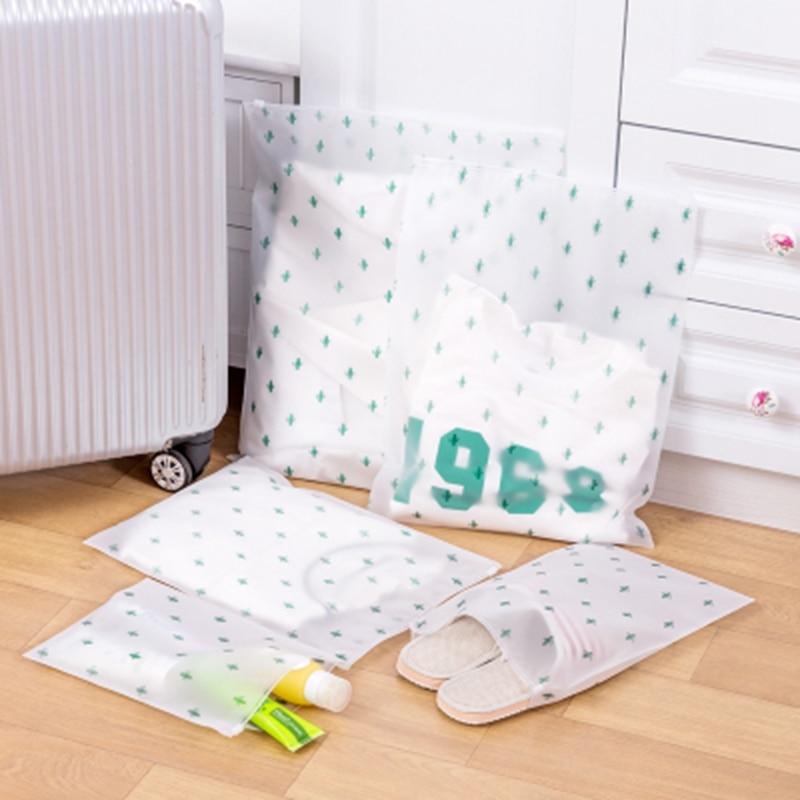 Bolsa de almacenamiento para exteriores impermeable para viaje, traje para ropa interior, zapatos, bolsa de embalaje translúcida, organizador de equipaje de viaje