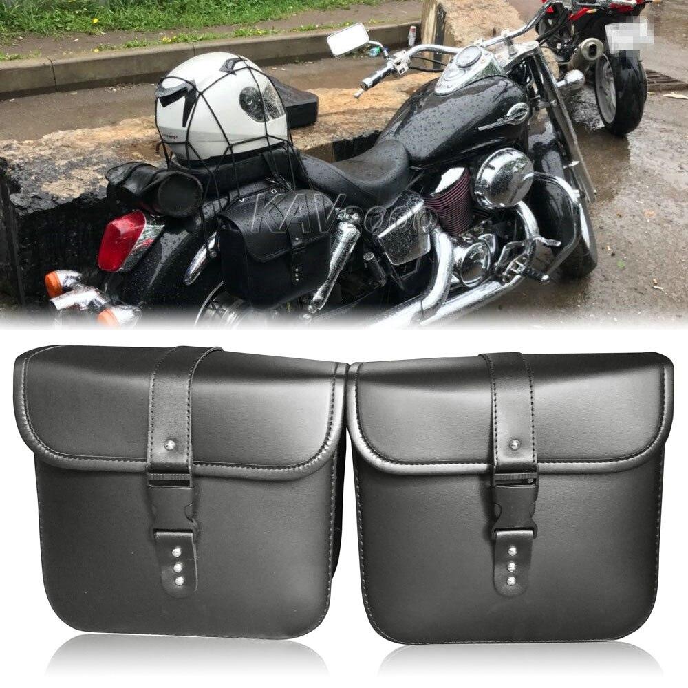 Alforjas de motocicleta, bolsa de equipaje para Yamaha v-star XVS 650 950 1100 1300 personalizado clásico Silverado/Yamaha Road Star Warrior XV