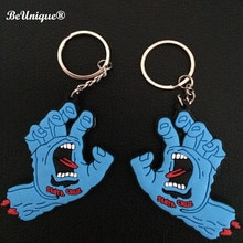 Anime Santa Cruz PVC KeychainThe Screaming Hand key ring pendant Small hang tags Handbag Decorations Giftware Wholesale10pcs/lot